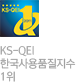 KS-QEI 한국사용품질지수 1위